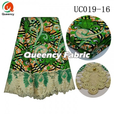 Fashion Ladies Ankara Nigeria Lace Embroidery